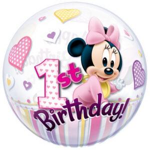 Palloncino cm 55 primo compleanno Minnie