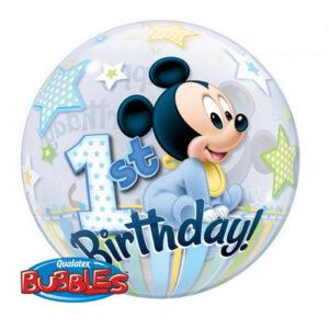 Palloncino cm 55 primo compleanno Mickey