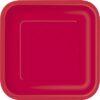 Piatti Carta colore Rosso