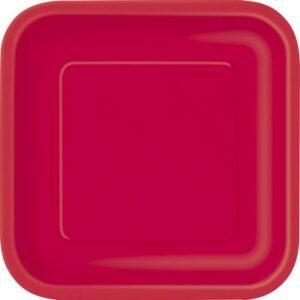 Piatti Carta colore Rosso cm 18 pz16