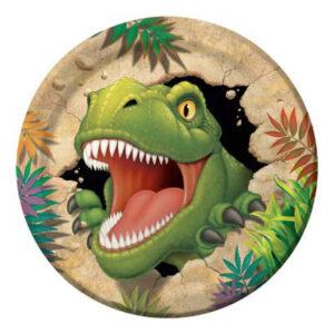 Piatto cm 23 tema dinosauri pz8