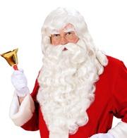 Parrucca babbo Natale con baffi e barba de luxe