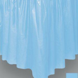 Tendina coprigambe tavolo pvc azzurro