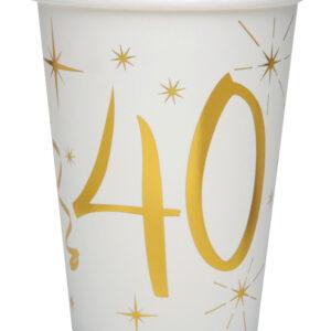 Bicchieri 40 anni bianchi