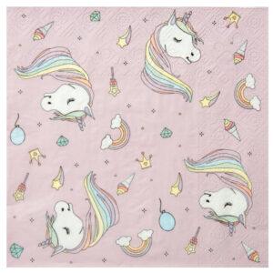 Tovaglioli unicornom pink