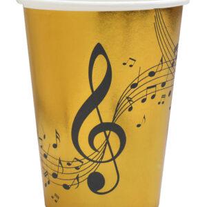 Bicchieri musica gold