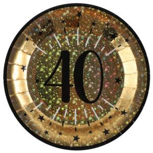 Piatti anni 40 compleanno