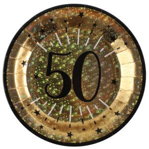 Piatti anni 50 compleanno
