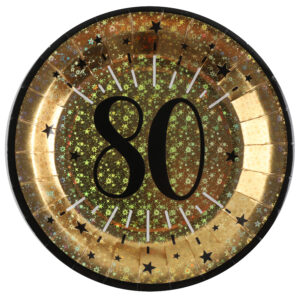 Piatti anni 80 compleanno