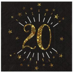 Tovaglioli anni 20 compleanno