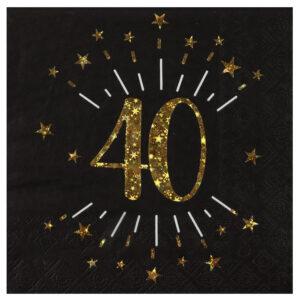 Tovaglioli  anni 40  compleanno