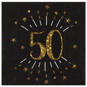 Tovaglioli anni 50 compleanno