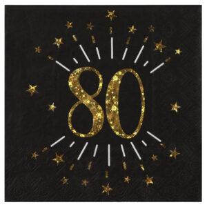 Tovaglioli 80 anni compleanno