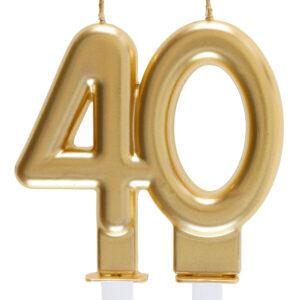 Candela anni 40 dorata