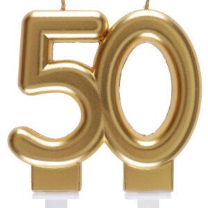 Candela anni 50 dorata