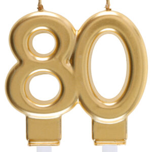 Candela 80 anni dorata
