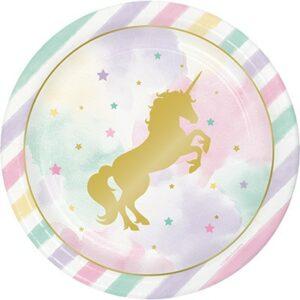 Piatti unicorno sparkle cm 23