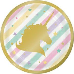 Piatti unicorno sparkle cm 18
