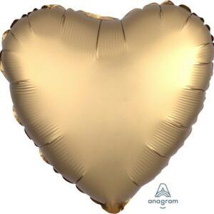 Palloncino foil a forma di cuore cm 42 satinato oro