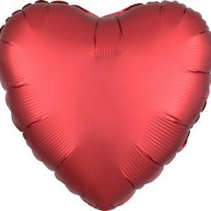 Palloncino forma cuore satinato cm 42 rosso