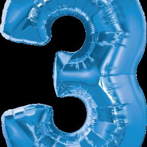 Palloncini sagomati numero 3 altezza cm 86