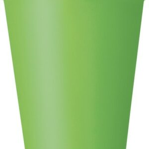 Bicchieri carta verde lime