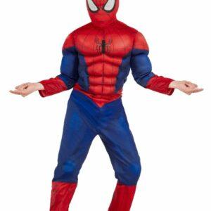 Costume spiderman con petto muscoloso