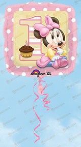 Palloncini primo compleanno Baby Minnie