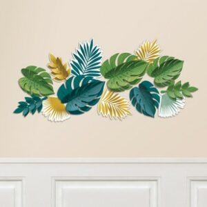 Decorazione da parete foglie tropicali