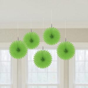 decorazione ventagli verde lime
