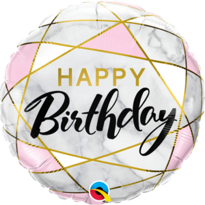 Palloncino happy birthday marble