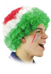 Parrucca tricolore Italia