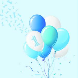 Tovaglioli carta primo compleanno tema palloncini boy