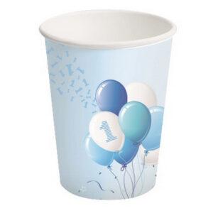 Bicchieri carta primo compleanno palloncini boy