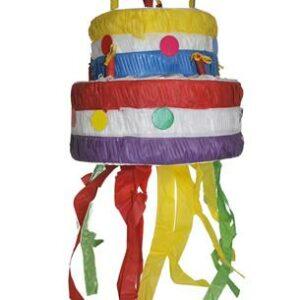 Pignatta  sagomata a forma di  Torta colorata